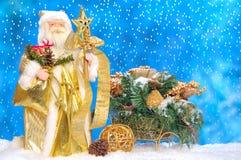 claus hans santa åka släde toyen Royaltyfri Fotografi