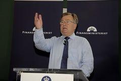 CLAUS HJORT FREDERIKSEN _DANISH MINISTER FOR FINANCE Stock Photos