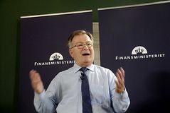CLAUS HJORT FREDERIKSEN _DANISH MINISTER FOR FINANCE Royalty Free Stock Photo