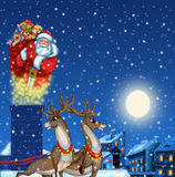 claus illustration santa Royaltyfri Foto