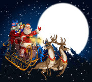 claus illustration santa Royaltyfria Bilder