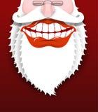 claus jolly santa Glad farfar med det vita skägget Bred sm royaltyfri illustrationer