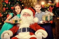 claus kära santa Fotografering för Bildbyråer