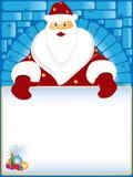 claus karciany tekst Santa Obrazy Royalty Free
