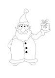 claus koloru prezent trzyma Santa Zdjęcie Royalty Free