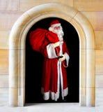 claus kommande santa Arkivbild