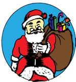 claus kommande santa till townen royaltyfri illustrationer