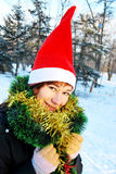 claus kvinnlig santa Royaltyfri Foto