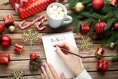 claus listowy Santa Fotografia Royalty Free