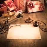 claus listowy Santa Zdjęcia Stock