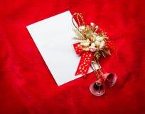 claus listowy Santa Bożenarodzeniowa czerwień  dekoracje Obrazy Stock