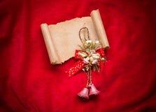 claus listowy Santa Bożenarodzeniowa czerwień  dekoracje Zdjęcie Stock