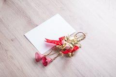 claus listowy Santa Bożenarodzeniowe drewniane dekoracje Zdjęcia Stock