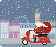 Claus Londres Santa Photo libre de droits
