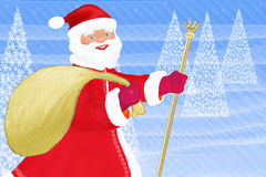 claus meddelande santa royaltyfri illustrationer