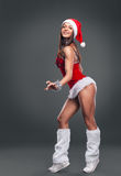 claus odzieżowej dziewczyny Santa seksowny target907_0_ Obraz Stock