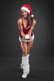 claus odzieżowej dziewczyny Santa seksowny target907_0_ Fotografia Royalty Free
