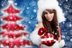 claus odzieżowej dziewczyny Santa seksowny target1566_0_ Obraz Royalty Free