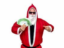 claus pieniądze Santa Zdjęcia Royalty Free