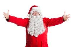 claus powitanie Santa Fotografia Stock