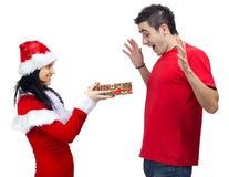 claus prezent Santa obrazy stock