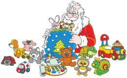 claus prezenty Santa Fotografia Royalty Free