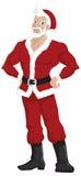 claus przystojny gorący Santa ilustracja wektor