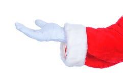 claus ręka szeroko rozpościerać Santa Obrazy Stock