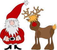 claus renifer Santa Fotografia Stock