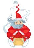 claus rider den santa sleighen stock illustrationer