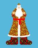 claus ryss santa Farfarfrostkappa i traditionellt orange Fotografering för Bildbyråer