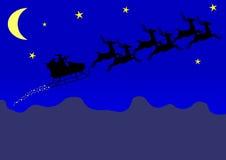 claus s santa sleigh Royaltyfria Foton