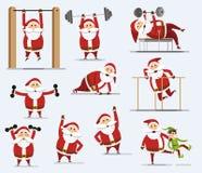 claus santa vektor illustrationer