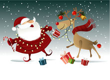 рождество claus santa предпосылки Стоковые Изображения