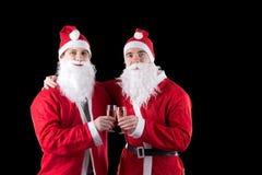 claus Santa dwa Zdjęcie Royalty Free