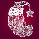 claus santa En mall för laser-klipp royaltyfri illustrationer