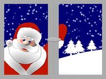 claus santa fönster Arkivfoto