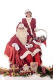 claus Santa kobiety xmas Obrazy Stock