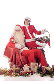 claus Santa kobiety xmas Fotografia Stock