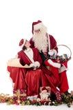claus Santa kobiety xmas Zdjęcia Stock