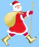 claus Santa krzepki Ilustracji