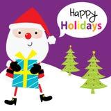 Claus Santa mignonne Image libre de droits