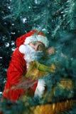 claus santa ny yaer och jul Fotografering för Bildbyråer