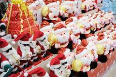 claus santa shoppar Fotografering för Bildbyråer