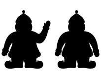 claus santa silhouette Royaltyfri Bild