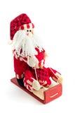 claus santa sleigh Arkivbilder