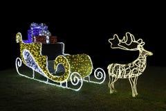 claus santa sleigh Royaltyfria Foton