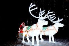 claus santa sleigh Arkivfoto