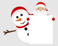 claus santa snowman stock illustrationer