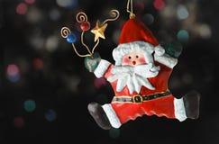 claus santa tin Royaltyfri Fotografi
